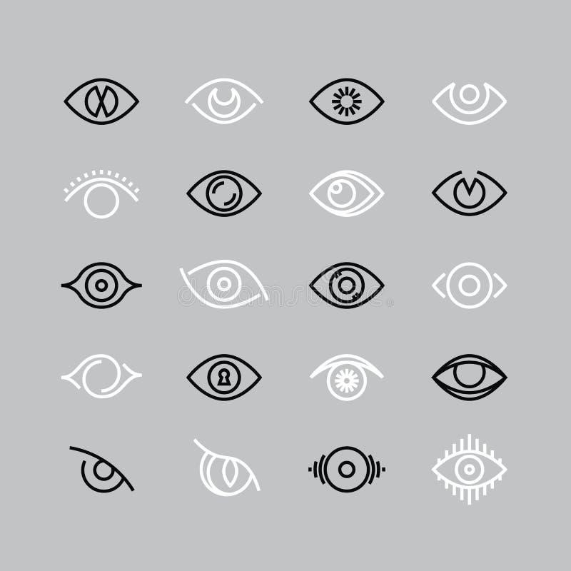 肉眼线象 眼力传染媒介概述图表 向量例证