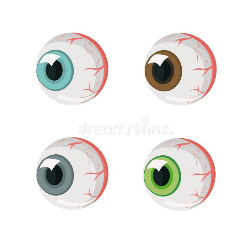 肉眼 不同颜色的四只眼睛 E E 皇族释放例证