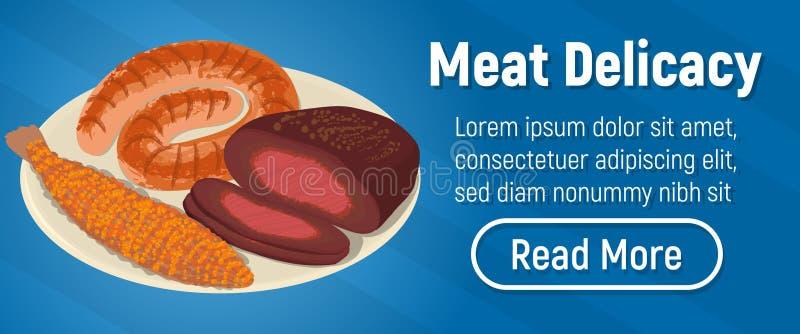肉纤巧概念横幅,等量样式 皇族释放例证