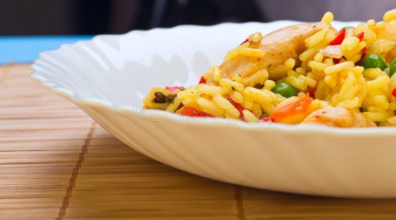 肉菜饭用海鲜 免版税图库摄影
