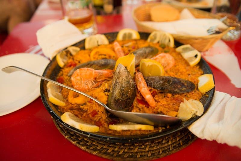 肉菜饭用海鲜 图库摄影