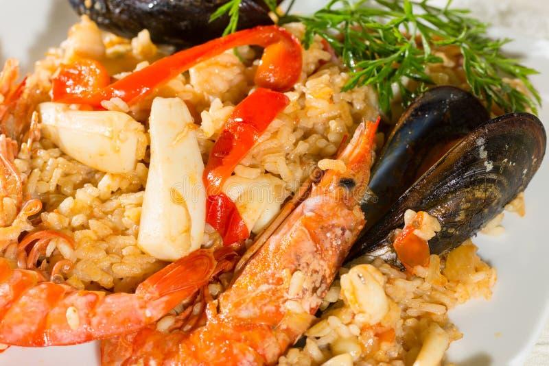 肉菜饭Valenciana 库存图片