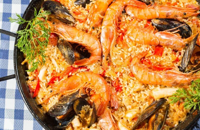 肉菜饭Valenciana 免版税库存照片