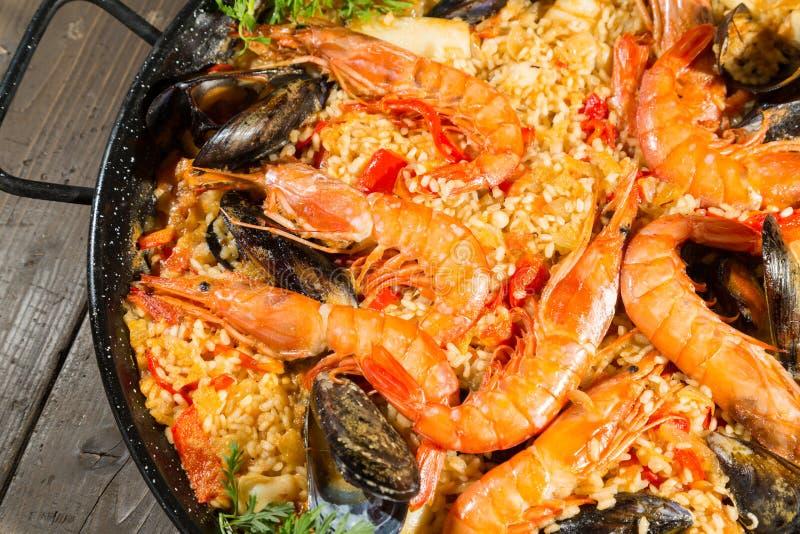 肉菜饭Valenciana 免版税库存图片