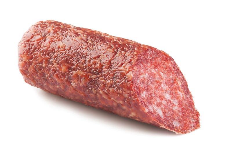 肉蒜味咸腊肠 免版税库存图片