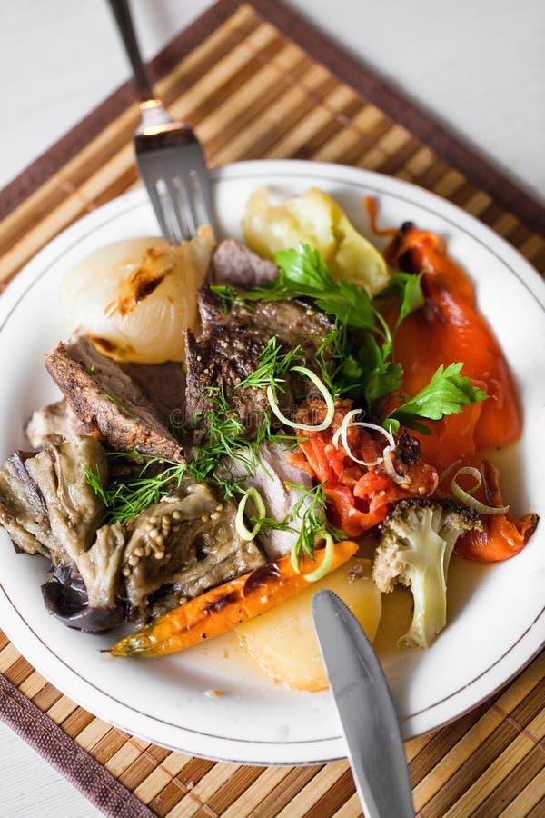 肉蔬菜 免版税库存照片