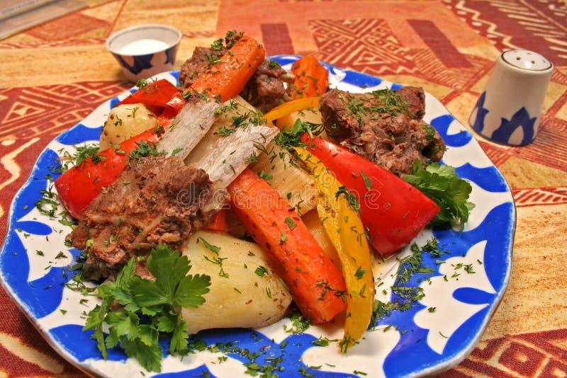 肉蔬菜 库存图片