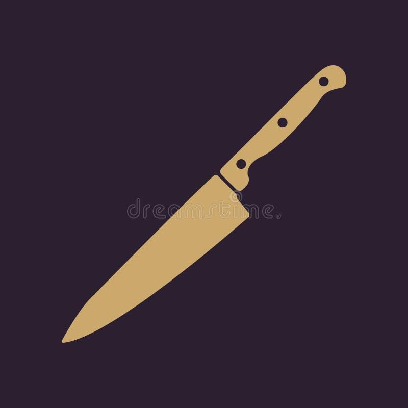 肉象的刀子 刀子和厨师,厨房标志 Ui 网 徽标 标志 平的设计 阿帕卢萨马 库存例证