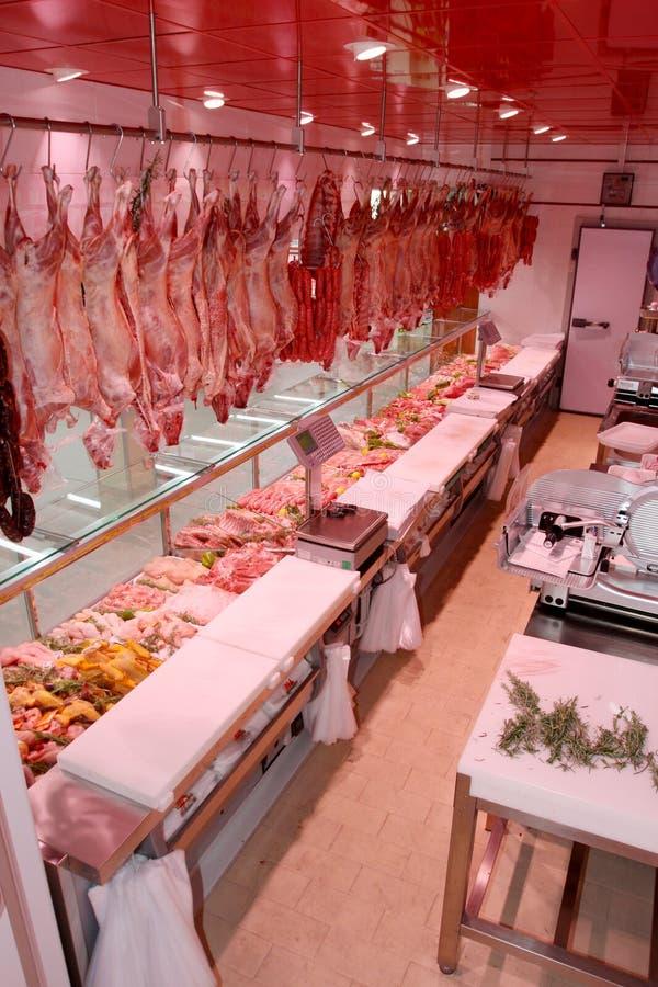 肉部门用典型的意大利香肠 免版税库存图片