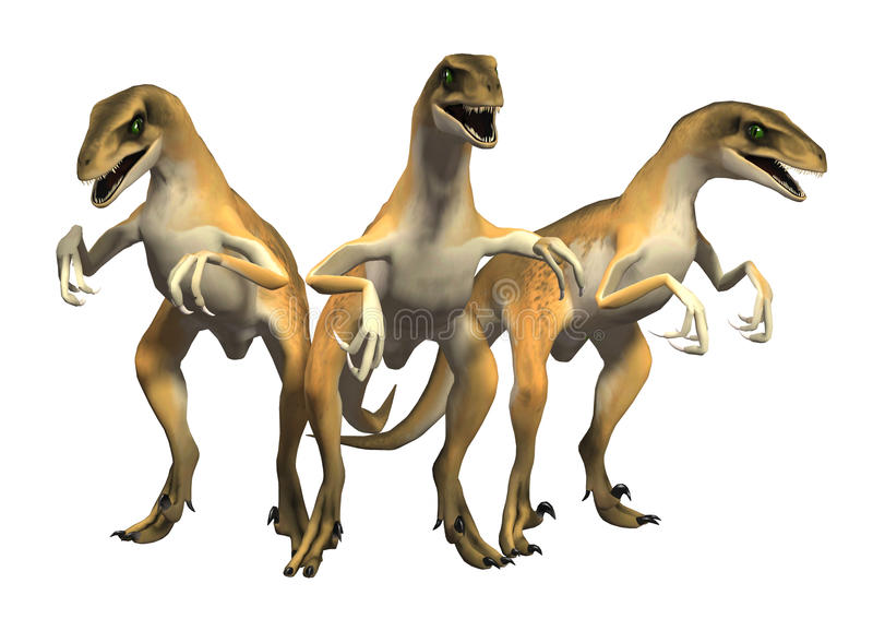 肉食鸟侏罗纪公园猛禽恐龙 库存例证