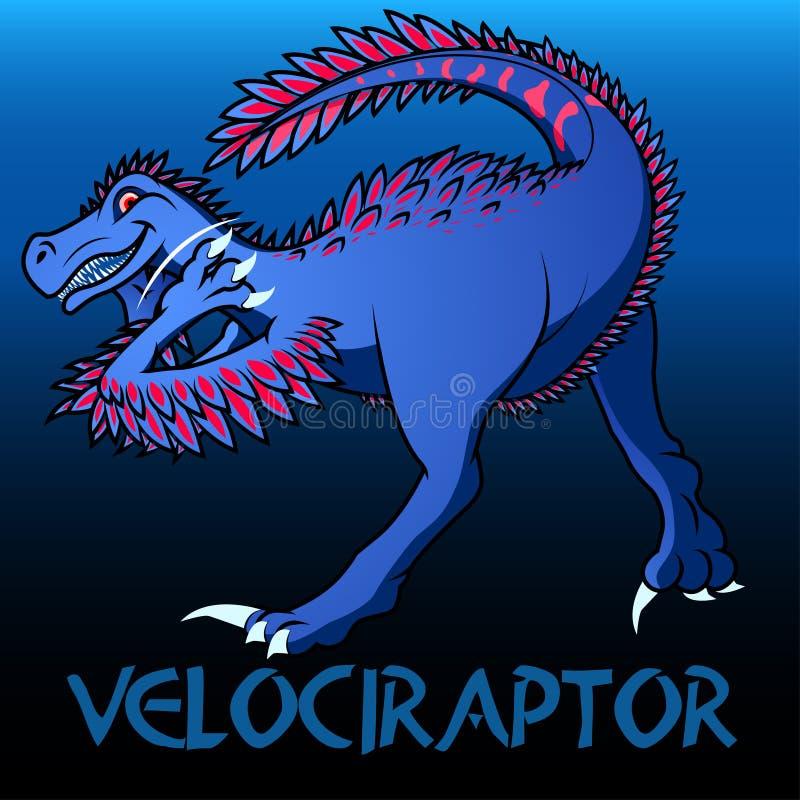 肉食鸟逗人喜爱的字符恐龙 皇族释放例证