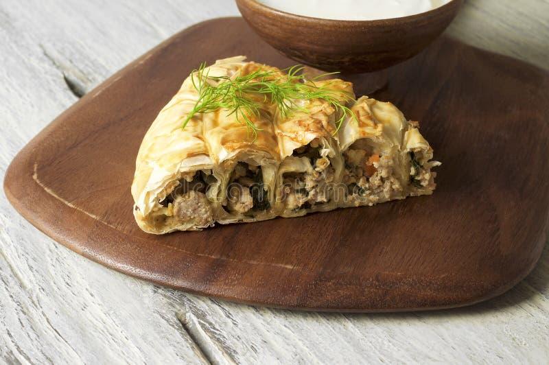 肉馅饼Burek, Borek、Burekas、土耳其语和巴尔干烹调 库存图片