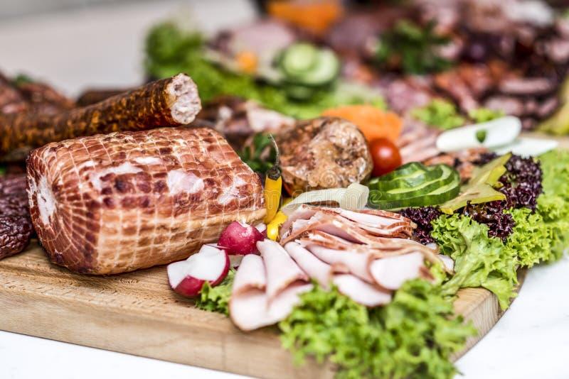 肉,火腿,菜,波兰传统食物 免版税库存图片