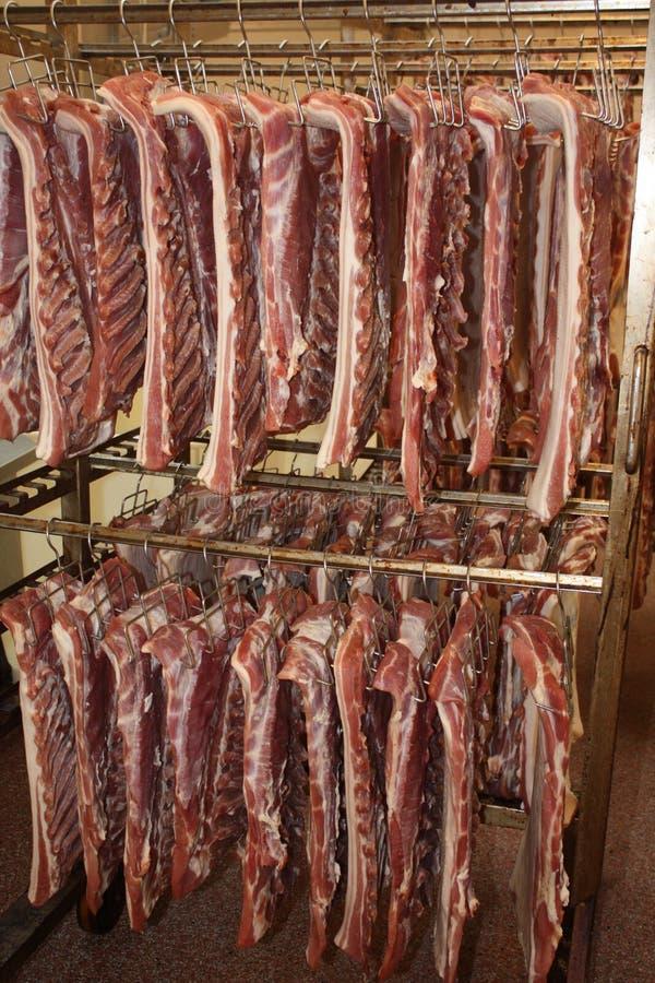 肉proces生产 库存图片
