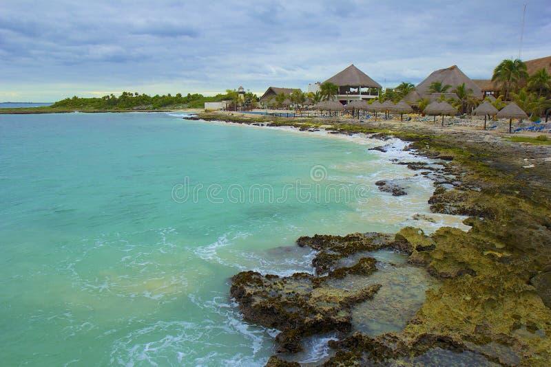 肋前缘玛雅人海岸,墨西哥,加勒比 库存图片