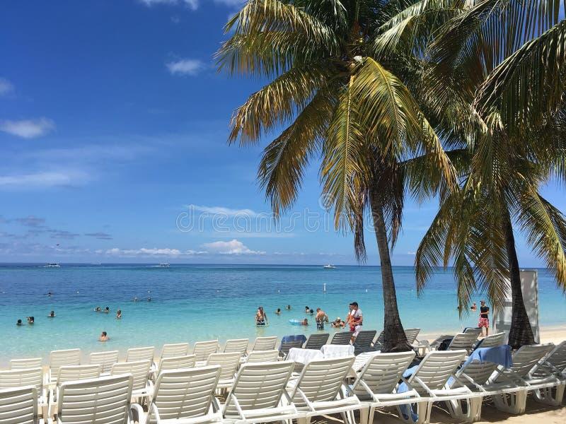 肋前缘玛雅人海滩在墨西哥 库存图片