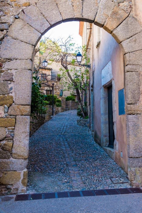 肋前缘的Brava,卡塔龙尼亚,西班牙托萨德马尔 库存照片