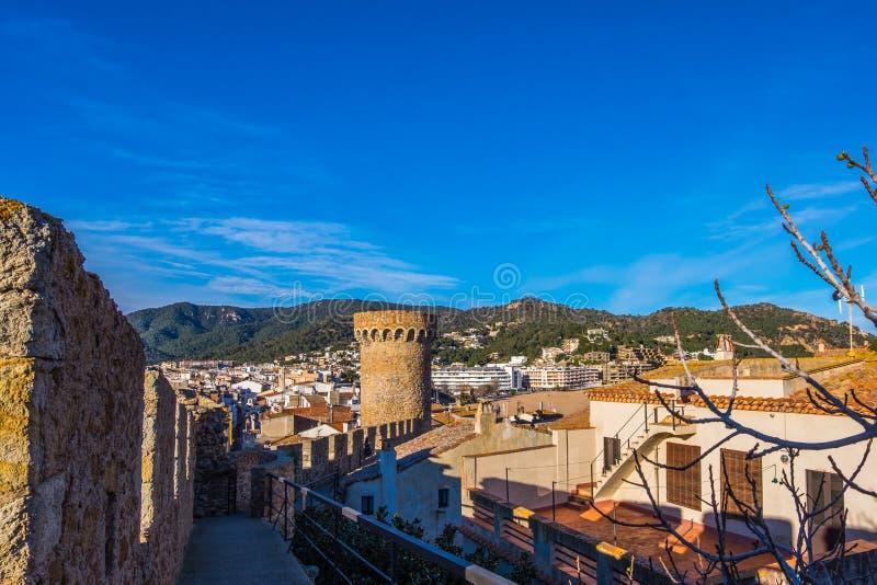 肋前缘的Brava,卡塔龙尼亚,西班牙托萨德马尔 库存图片