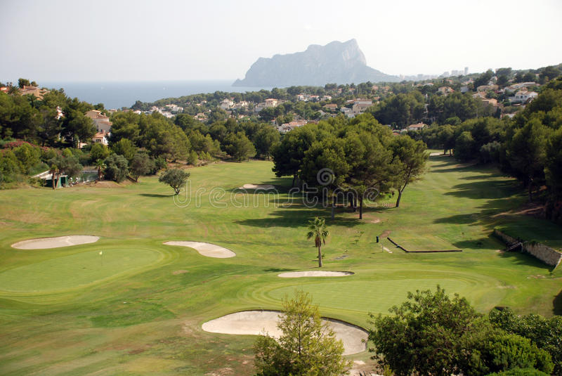 肋前缘Blanca的高尔夫球场 免版税库存照片