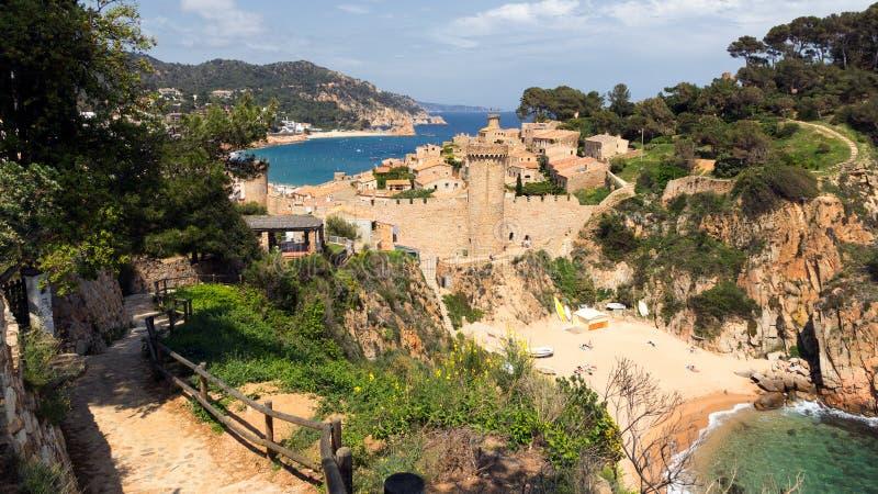 肋前缘Brava海滩在西班牙 免版税库存照片