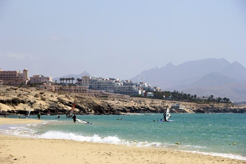 肋前缘Calma海滩-费埃特文图拉岛 库存图片