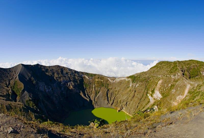 肋前缘irazu nacional volcan parque的rica 库存照片