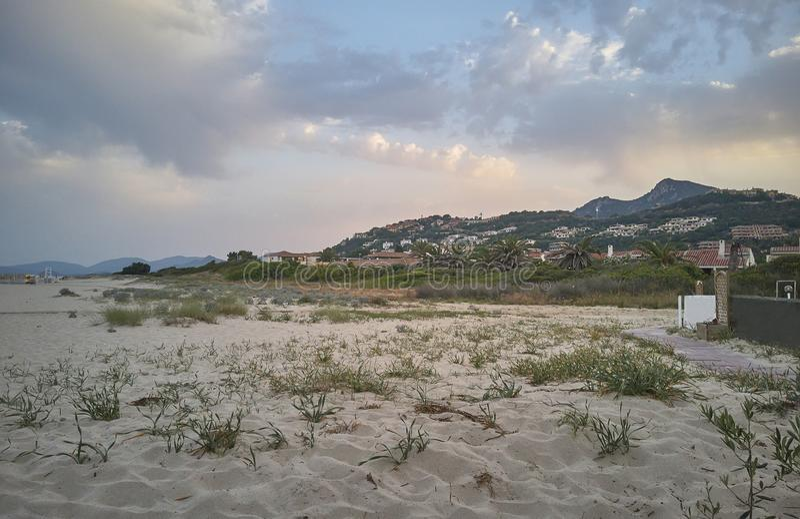 肋前缘Rei在撒丁岛 免版税图库摄影