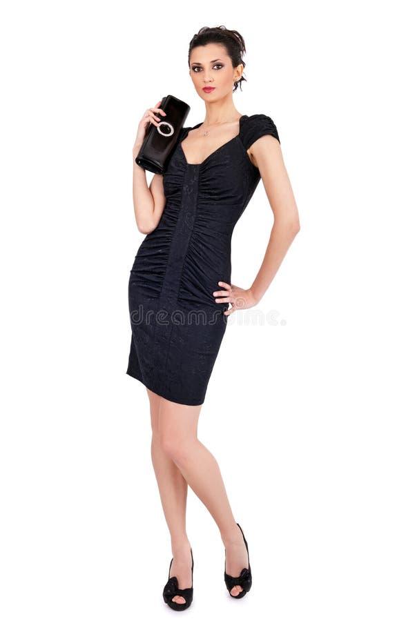 肋的礼服佩带的妇女 图库摄影