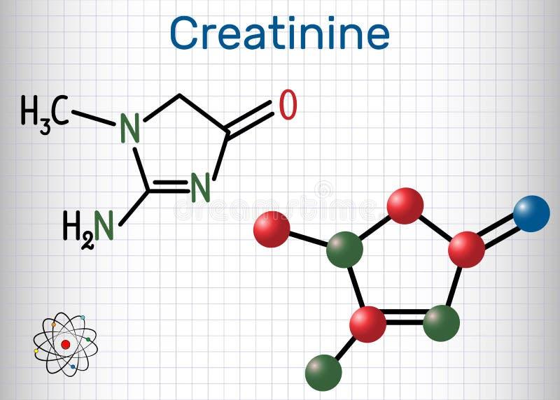 肌氨酸酐分子 结构化学式和分子mo 皇族释放例证
