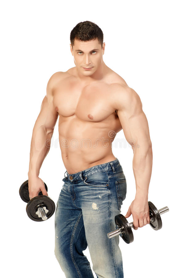 肌肉人 免版税图库摄影