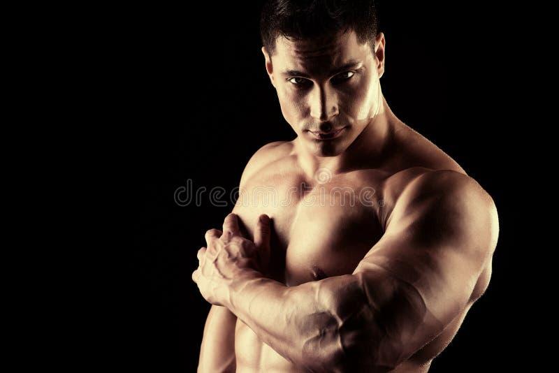 肌肉安心 库存图片