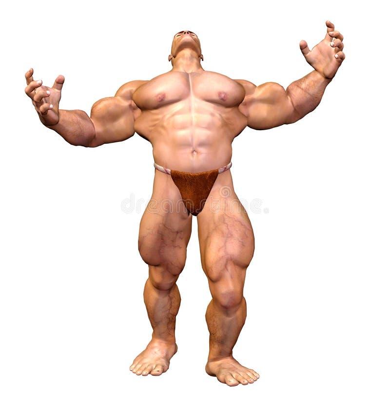 肌肉机体人力的人 向量例证