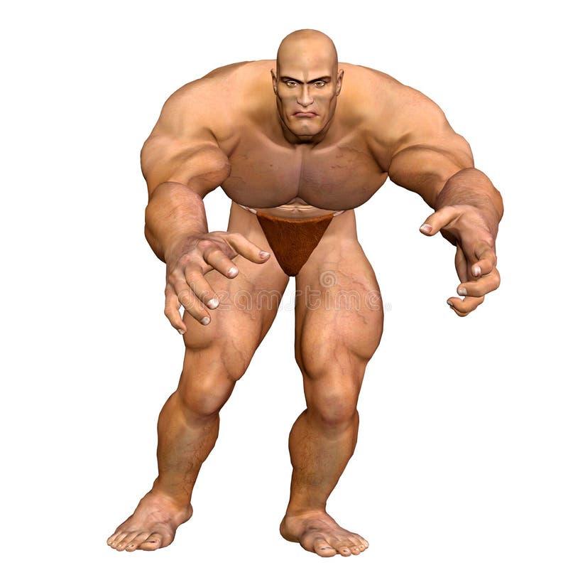 肌肉机体人力的人 皇族释放例证