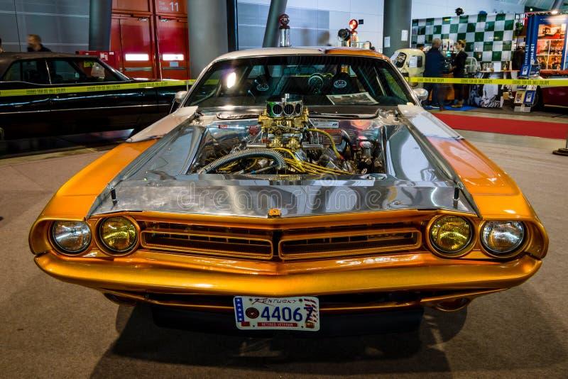 肌肉汽车推托挑战者赞成Street, 1970年 库存图片