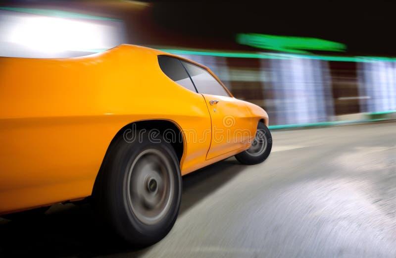 肌肉汽车的动态射击。 免版税库存图片
