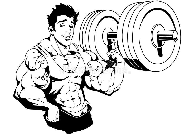 肌肉爱好健美者被举的重量一手指.图片