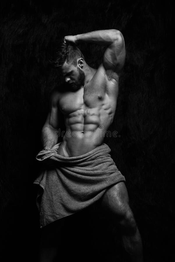 肌肉的男性式样康斯坦丁卡梅宁 库存照片