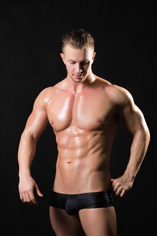 肌肉的男性模型 库存图片
