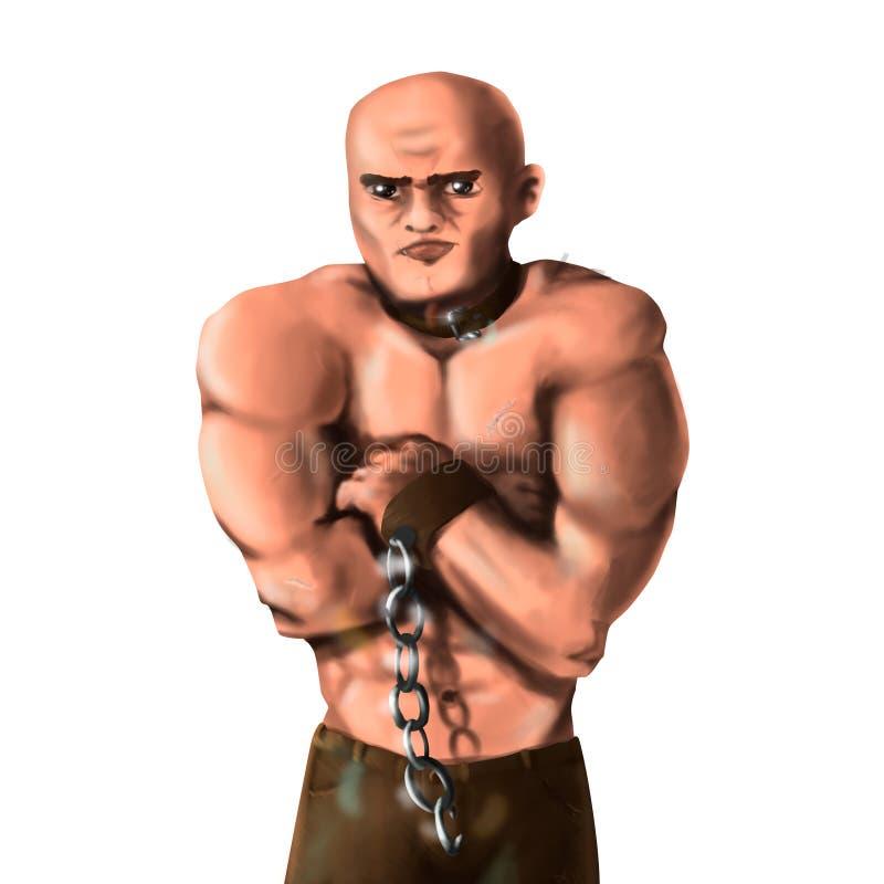 肌肉的男 免版税库存图片