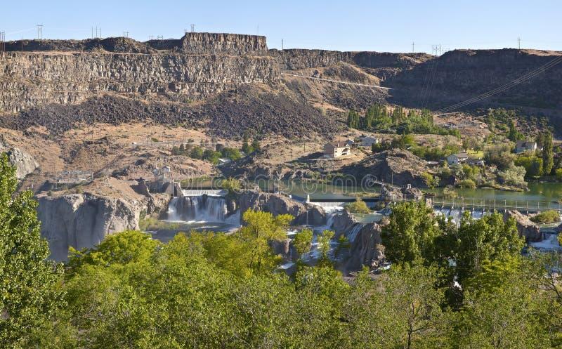 肖松尼人跌倒国家公园Twin Falls爱达荷。 库存照片