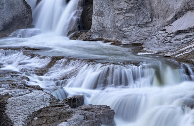肖松尼人跌倒Twin Falls,爱达荷 库存图片