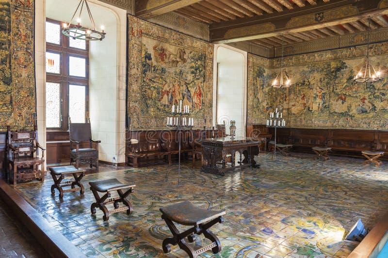 肖蒙城堡大厅 免版税图库摄影