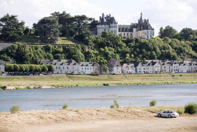 肖蒙苏尔卢瓦尔河法国 免版税库存照片