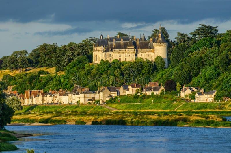 肖蒙sur卢瓦尔河城堡  免版税图库摄影