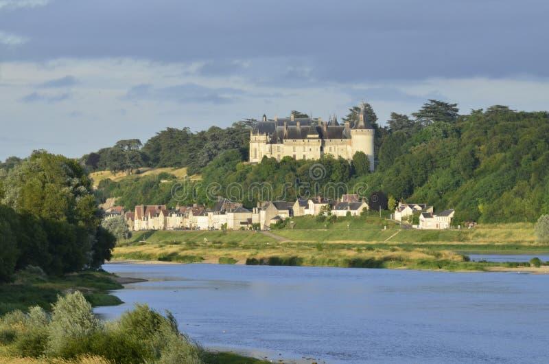 肖蒙sur卢瓦尔河城堡  免版税库存图片