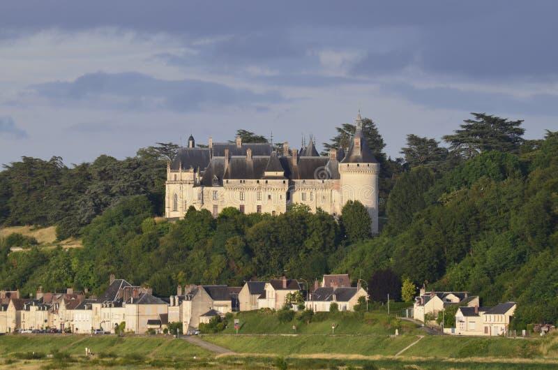 肖蒙sur卢瓦尔河城堡  图库摄影