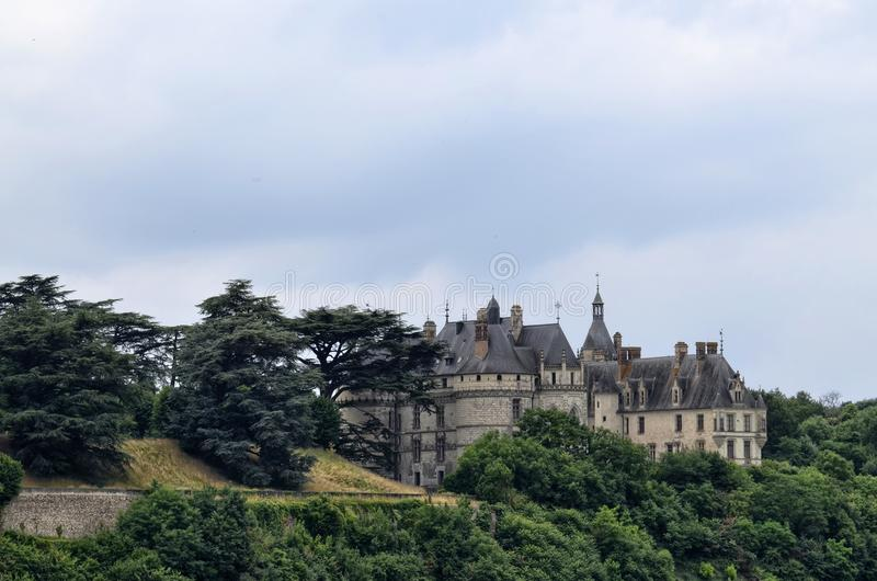 肖蒙sur卢瓦尔河城堡  库存照片
