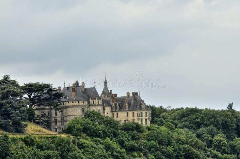 肖蒙sur卢瓦尔河城堡  免版税库存照片