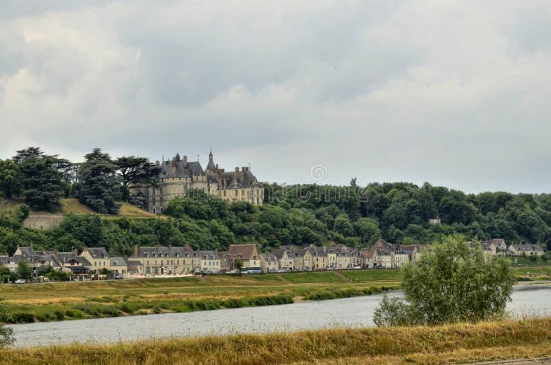 肖蒙sur卢瓦尔河城堡  库存图片