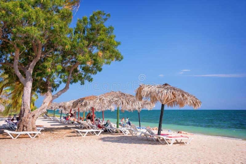 肘海滩,特立尼达古巴 免版税库存照片